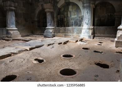 Alaverdi, Armenia - Jun 11 2018: Haghpat Monastery in Haghpat village, Alaverdi, Lori, Armenia. It is part of the World Heritage Site - Monasteries of Haghpat and Sanahin.