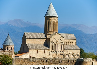 Alaverdi church and monastery complex landmark in Kakheti region of Georgia