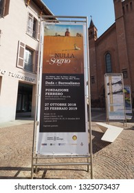 ALBA, ITALY - CIRCA FEBRUARY 2019: Dal Nulla al Sogno (meaning From Nothing to Dream) Dada and Surrealism exhibition at Fondazione Ferrero art gallery