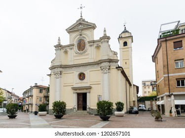 Alba, Italy - October 1, 2018: The San Giovanni Church in the historic city of Alba in Piedmont in Italy