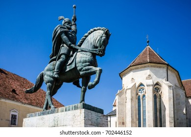 ALBA IULIA - MAY 10: Statue of Michael the Brave on May 10, 2016 in Alba Iulia, Romania. He is considered one of Romania's greatest national heroes and author of Romanian unity.