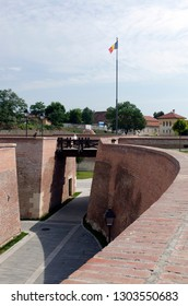 Alba Iulia/Romania - August 08 2014: Inside Citadel of Alba Iulia.The bastion was built between 1714-1738 and is considered the most representative fortification by Vauban type from Romania.
