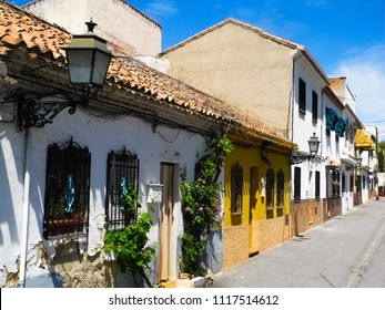 Albaicin, Old muslim quarter, district of Granada in Spain. Houses with orange tiling.