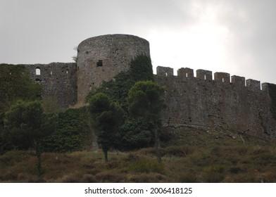 albania shkodra rozafa castle detail view