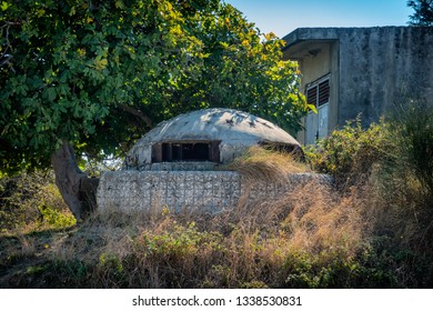 Albanian bunker near the coast of Vlore, Albania