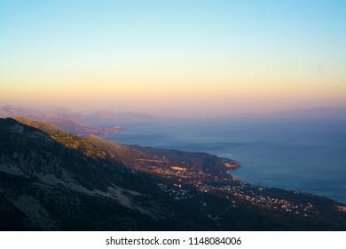 Albanian mountain sunset