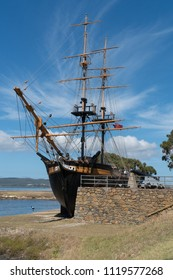 ALBANY, AUSTRALIA - FEBRUARY 5, 2018: Historic sailing ship, famous place of Albany on February 5, 2018 in Western Australia