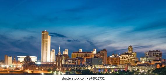 Albany, New York  night skyline