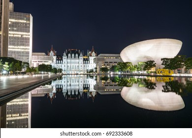 ALBANY, NY - JUNE 28: The Empire State Plaza in Albany, New York on June 28, 2017.  The complex is one of the most beautiful and architecturally stunning capital complexes in the United States
