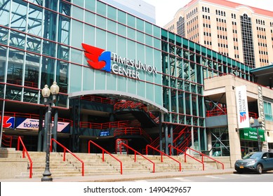 Albany, NY, USA April 14, 2013 The Times Union Center is home to minor league and college sports teams in Albany, New York