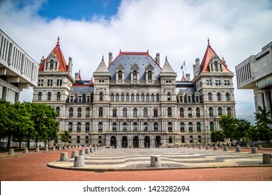 Albany, NY, USA - July 28, 2018: The New York House State Capitol