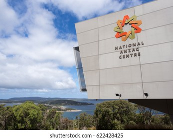 ALBANY, WESTERN AUSTRALIA - MARCH 28 2017: The National ANZAC Centre overlooking King George Sound, a museum that pays tribute to those Australian and New Zealanders who served during World War I.