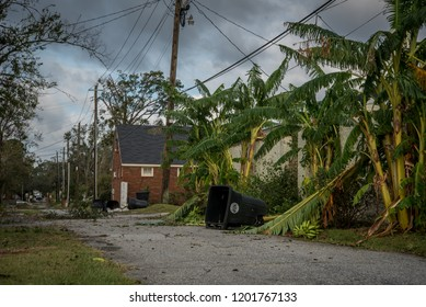 Albany,Georgia/United States of America - October 11th 2018: Destruction from Hurricane Michael