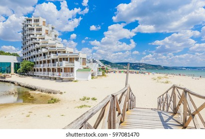 ALBENA, BULGARIA - JULY 21, 2016. Bulgaria, Black Sea Coast,  seaside resort Albena, Hotel Gergana