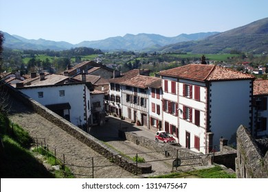 Albergue on the Camino de Santiago in Saint Jean Pied de Port . View from Citadelle . Lovely Pyrenees !