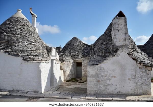 Alberobello Trulli Houses Puglia Italy Unesco Stock Photo Edit