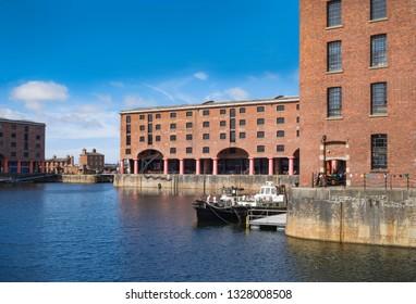 Albert Dock, Liverpool in summer