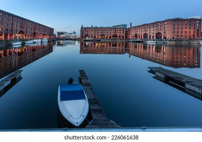 Albert Dock is the tourist attraction on the banks of Mersey river and waterfront of Liverpool, England.