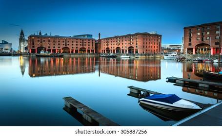 Albert dock warehouse in Liverpool , England.