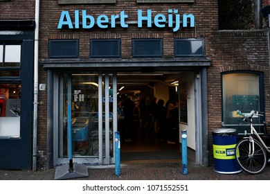 An Albert Heijn store of Dutch retailer Royal Ahold NV in Delft, Netherlands on Apr. 15, 2018