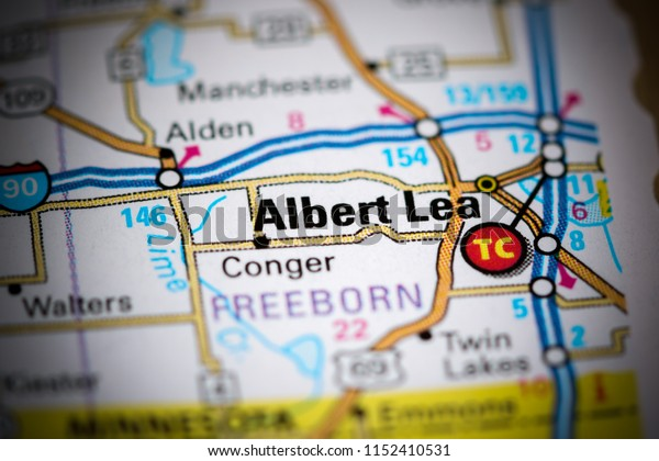 Albert Lea. Minnesota. USA on a map