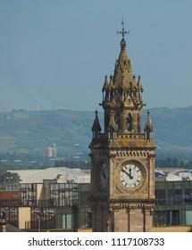 Albert Memorial Clock (aka Albert Clock) tower in Belfast, UK