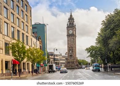 Albert Memorial Clock Tower in Belfast, Northern Ireland