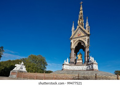 The Albert Memorial in Kensington Gardens, London, England