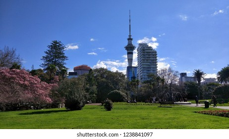 Albert Park in Spring. Auckland, New Zealand