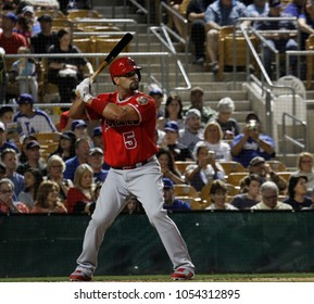 Albert Pujols  DH for the Los Angeles Angeles at Camelback Ranch - Glendale in Phoenix, Arizona USA March 22,2018.