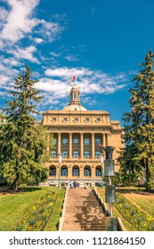 Alberta Legislature Building, the meeting place of the Legislative Assembly and the Executive Council, located in Edmonton, Alberta, Canada.