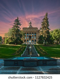Alberta Legislature during the Golden Hour