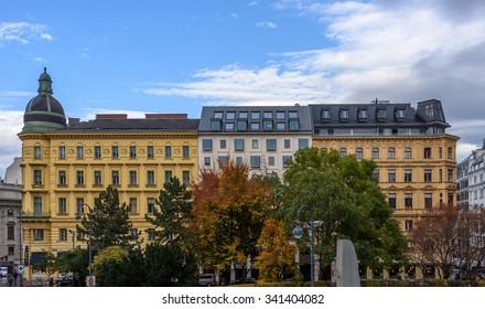 Albertina square at Christmas, Vienna, Austria