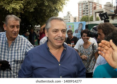Alberto Fernandez, pre-candidate for president in the simultaneous and obligatory open primary elections of Argentina, arrives to a party congress in Buenos Aires, Argentina, on March 7, 2019