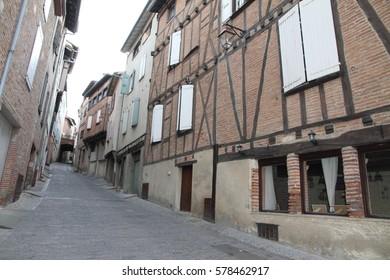 Albi medieval village in Tarn department Midi Pyrenees France on October 7, 2014