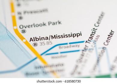Albina / Mississippi Station. Portland Metro map.