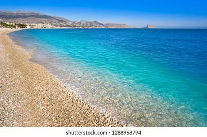 Albir beach in Alfas del Pi of Alicante Spain at Costa Blanca