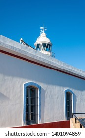The Albir lighthouse in Altea, a town on the Mediterranean coast of the Costa Blanca, a tourist destination in Spain. Near Benidorm, the town of Altea and nearby Albir enjoy a fantastic sea climate.