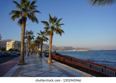 ALBIR, SPAIN - MARCH 4, 2019: Beautiful Albir town on the spanish coast