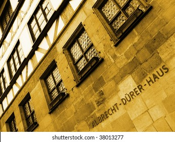 Albrecht Duerer (Durer) House in Nuremberg (Nurnberg) Germany. The house of the famous 15th-16th century german master painter, printmaker, woodcutter and theorist.