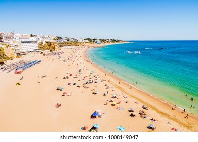 Albufeira beach on the Algarve, Portugal