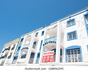 Albufeira, Portugal- May 5, 2018: A housing development in Albufeira, Portugal