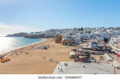 Albufeira, Portugal - OCTOBER 8, 2018: City of Albufeira,Algarve, Portugal