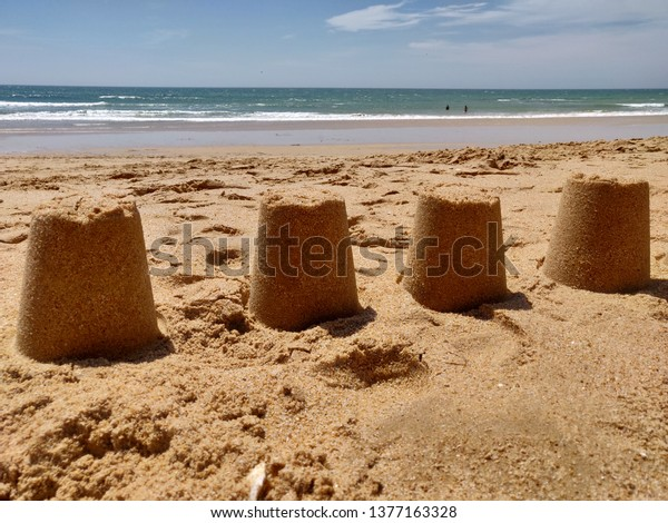 Albufeira sunny seashore, Barranco das Belharucas, Algarve Portugal.