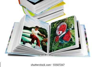 Albums with Family photos after summer vacations
