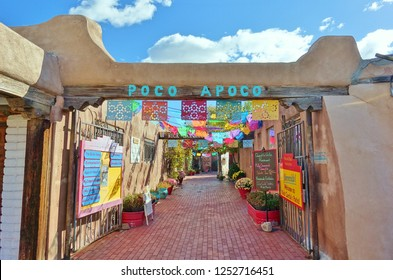 ALBUQUERQUE, NEW MEXICO -02 NOV 2018- View of the historic Old Town Albuquerque around the Plaza Vieja square located in Albuquerque, NM.