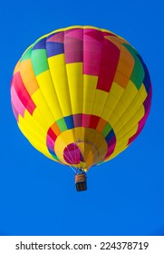 ALBUQUERQUE, NEW MEXICO - OCT 11: Balloon fly over Albuquerque on October 11, 2014 in Albuquerque, New Mexico. Albuquerque balloon fiesta is the biggest balloon event in the world.