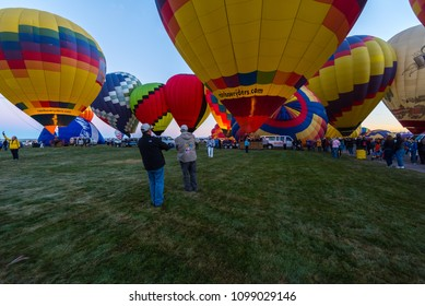 ALBUQUERQUE, New Mexico, October 13, 2017: The Albuquerque International Hot Air Balloon Fiesta is the largest event of it's kind and estimated to generate over $100mm in economic impact to the area