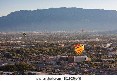 ALBUQUERQUE, NEW MEXICO - OCTOBER 9: Balloons fly over Albuquerque on October 9, 2010 in Albuquerque, New Mexico. Albuquerque balloon fiesta is the biggest balloon event in the the world.