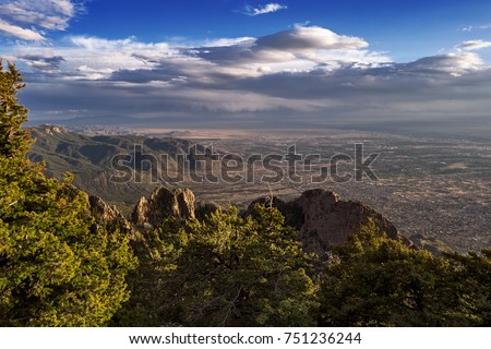 Albuquerque, New Mexico from the Sandia Mountain Crest